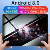 "10.1"" inch Android 8.0 Tablet PC 64GB bluetooth HD GPS Dual SIM 3G WIFI Phablet"