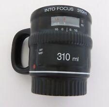 Bitten Into Focus 310ml Camera Lens Coffee Cup Mug Black Photography