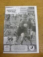 14/04/2012 Rugby Union programme: SPORTS Tours-Bournemouth et Poole Festival