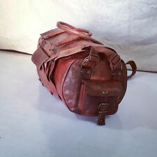 Leather Genuine Travel Bag Duffle Gym Men Vintage Luggage Overnight Weekend JMB