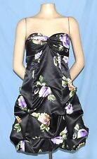 Gorgeous & Chic ONYX Strapless Bubble Hem/Pick-Up Skirt Cocktail Dress Size 2