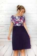 Abendkleid / Sommerkleid Größe 34/XS blau. Handgefertigt und neu