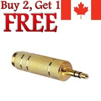 """1/8"""" 3.5mm Male to 6.5mm 1/4"""" Audio Jack Stereo Headphone Adapter 3.5mm to 6.5mm"""