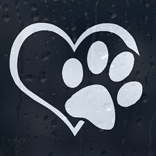Love i vostri animali domestici cuore cane zampa a bordo auto o vinile adesivo decalcomania Ciotola
