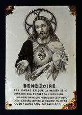 ANTIGUA PLACA RELIGIOSA DE PORCELANA SOBRE METAL