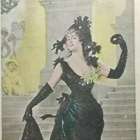 Antique Vintage Sappho Beautiful Woman Postcard Union of America