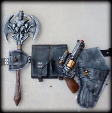 SteAMPunK gun Victorian holster belt SkuLL Ax ammo pouch Zombie Apocalypse ToY