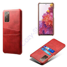 For Samsung Galaxy S20 FE 5G Leather Back Credit Card Fixing Pocket Case Cover