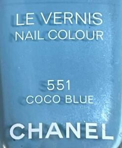 Chanel nail polish 551 COCO BLUE rare limited edition BNIB