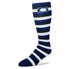 NFL Indianapolis Colts Striped Knee High Hi Tube Socks One Size Fits Most Adults