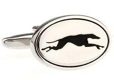 Greyhound Cufflinks Silver Racing Derby Wedding Fancy Gift Box Free Ship USA