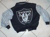 Vintage LA Raiders Jeff Hamilton Jacket L Los Angeles Vegas Oakland Leather NFL