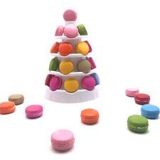 5 Tiers Round Macaron Tower Food Grade PVC Cake Display Stand Rack for Wedding