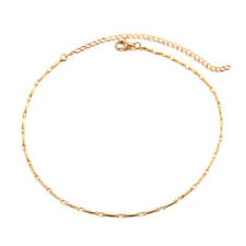 Fashion Women Sequins Choker Necklace Simple Chain Collar Gothic Punk Jewelry