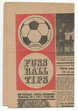 Original programme 26.07.1977 VfB Stuttgart-Bolton Wanderers!!! RARE