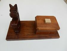 More details for carved scotty dog  on plinth with pin box
