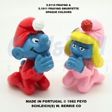 PUFFO PUFFI SMURF SMURFS SCHTROUMPF 51910 + 51911 OPAQUE Praying 100% Original!!