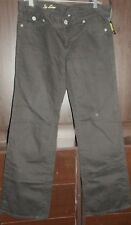 Kut SO LOW Black Boot Cut Pants Flap Pockets Size 12 New