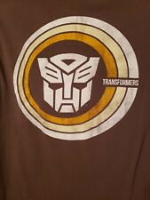 TRANSFORMERS PRE-OWNED Size Medium Brown T-Shirt