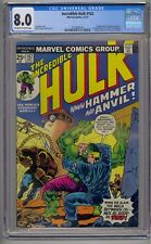INCREDIBLE HULK #182 CGC 8.0 1ST HAMMER & ANVIL WOLVERINE CAMEO