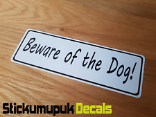 Beware of the Dog Front Door Sign/Sticker Delivery Warning for Dog Owners