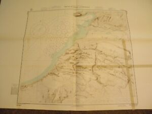 VINTAGE NAUTICAL CHART,GREENLAND-WEST COAST,THULE HARBOR ANCHORAGE