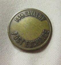 CAMP DEL RIO TX TEXAS ~ 14th CAVALRY POST EXCHANGE GF 5 MILITARY TOKEN 1857-1922