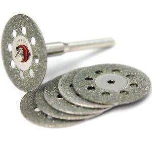 6x Diamant Trennscheibe 22mm Glas Metall Schleifscheibe für Dremel Proxxon