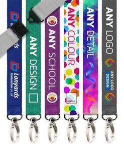 100x Personalised Sublimation Custom Printed Lanyards Strap & Logo Customisation