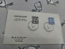 First day Cover Victory Issue Zanzibar