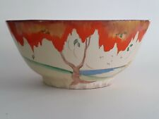 More details for  clarice cliff lovely  bowl in the 'toarmina' pattern circa 1932