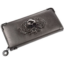 Cool Retro Skull Wallet for Women Vintage Clutch Bag Silver A9G4 P5R1