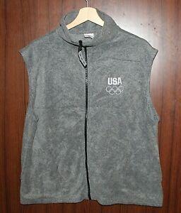 USA 2012 LONDON OLYMPIC GAMES size XL Woman Vest Tracksuit Tricot Jacket Polar