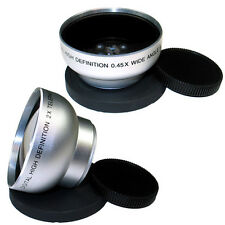 43mm Wide Angle 0.43x Tele Lens 2x Kit for Canon EOS M EF-M 22mm F2 STM Camera