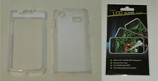 Clear Hard Plastic Case & Screen Protector For Samsung Captivate i897