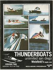1975 Thunderboats Unlimited San Diego - Weisfield's Trophy Race Program