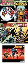 AVENGERS #19 CASSADAY DECADES VARIANT SET x5 60s 70s 80s 90s 00s INFINITY MARVEL
