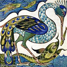 De Morgan Peacock 12 x 12 inch Needlepoint Canvas