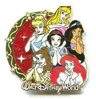 Disney Princesses The Gang with Glitter Pin