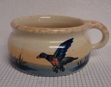 Ellis Pottery GAME BIRD Soup Cup MARSHALL TX Flying Duck More Items Available