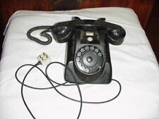 Vintage PTT Black table top telephone phone made in Holland rotary