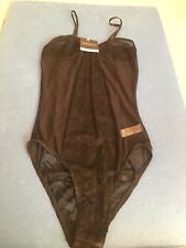 NWT TOPSHOP Ladies Black Lace Mesh Teddy Bodysuit Size: 8