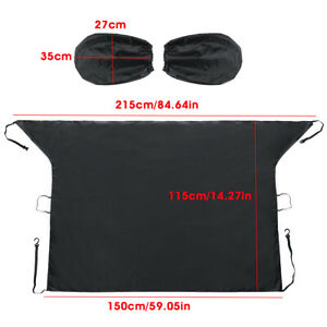 Car Magnetic Windshield Snow  Ice Frost Sun Rain Shade  & Mirror Cover Protector