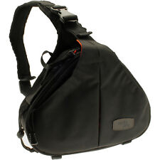 Black Water Resistant Shoulder Bag for Bridge, DSLR Cameras & Lens + Rain Cover