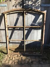 More details for very nice shaped rare antique steel window 1930s