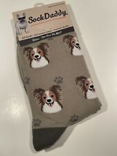 Nwt Sock Daddy Papillon Dog Breed Socks Unisex by E&S Pets All Over Print