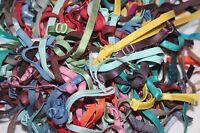 "Random Grab Bag 10 pair adjustable BRA STRAP mask stretch elastic straps 1/4"""