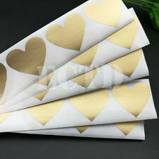 "150Pcs Heart Scratch Off Sticker Gold Colour 30mm X 35mm, 1.18"" X 1.37"""