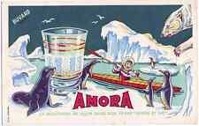 Beautiful original Amora Mustard Advert in Art Deco Style tiny poster Polar eski