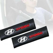 2PCS For Hyundai Carbon Fiber Car Seat belt shoulder Pads Safe Seat Belt Cover